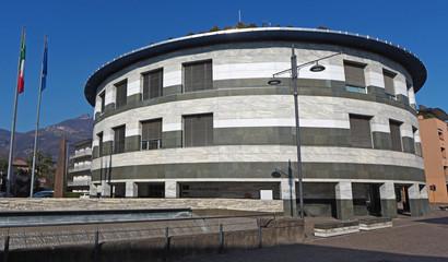 Albino, Bergamo, Italy. The facade of the city hall of the town