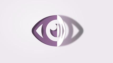 eye symbol paper art style