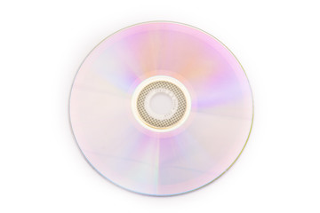 DVD disk, isolated on white background