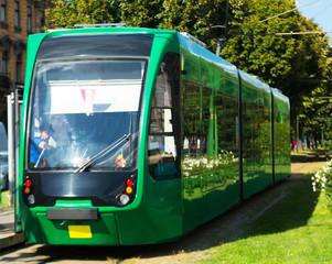 Trams on Arad streets, Romania