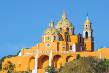 Shrine of Our Lady of Remedies in Cholula, Puebla, Mexico