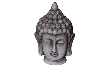 Buddha figure with a background of a white color