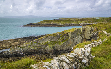 Wandern auf Sherkin Island, West Cork, Irland