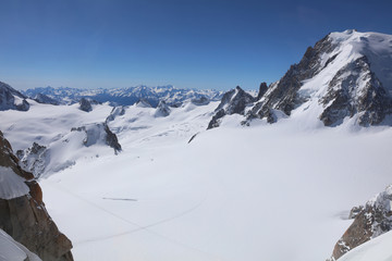 Mont Blanc Massif from Aiguille du Midi. France