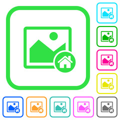 Default image vivid colored flat icons