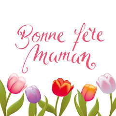 French Handwritten Happy Mothers Day