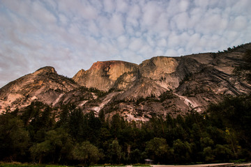 Half Dome at sunset.