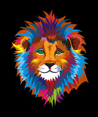Colorful Kind Wise Lion