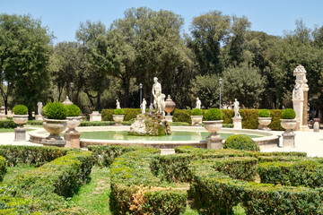 Gardens at Villa Borghese in Rome