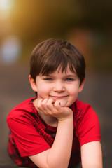 Portrait of a child outside