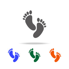 footprint icon. Element of Beach holidays multi colored icons for mobile concept and web apps. Thin line icon for website design and development, app development