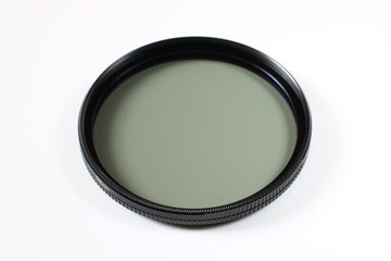 Polarizing filter for the camera on a white background