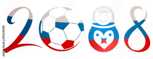 2018 soccer logo fotolia com の ストック画像とロイヤリティフリーの