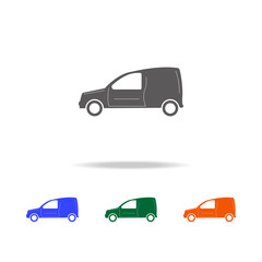 Motor Van icon. Types of cars Elements in multi colored icons for mobile concept and web apps. Icons for website design and development, app development
