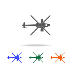 Military helicopter silhouette icon. Elements of  Military aircraft in multi colored icons for mobile concept and web app. Icons for website design and development, app development