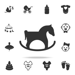 Rocking horse icon. Set of child and baby toys icons. Web Icons Premium quality graphic design. Signs and symbols collection, simple icons for websites, web design