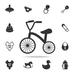 Tricycle icon. Set of child and baby toys icons. Web Icons Premium quality graphic design. Signs and symbols collection, simple icons for websites, web design