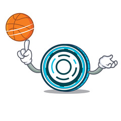 With basketball Aion coin character cartoon