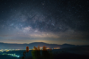 Milky way above Pai city