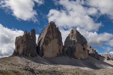 Tre Cime di Lavaredo (Drei Zinnen) in the Sexten Dolomites in Italy