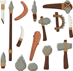 Set tools of prehistoric man