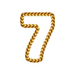 7 Braid Letter Logo Icon Design