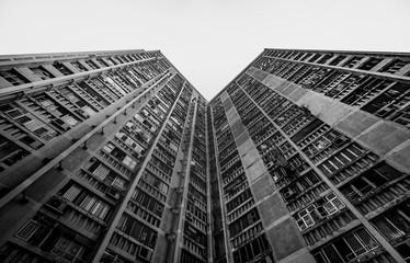Mieszkalnictwo publiczne w starym stylu w Hongkongu - 193378239
