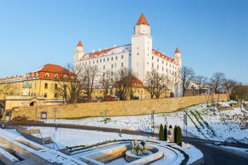Fotorolgordijn Kasteel Bratislava - The castle in winter light.