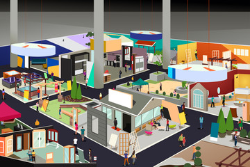 Home and Garden Trade Show Illustration