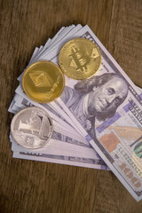 Crypto Currencies sitting on top of cash