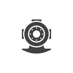 Diving helmet vector icon. filled flat sign for mobile concept and web design. simple solid icon. Symbol, logo illustration. Pixel perfect vector graphics