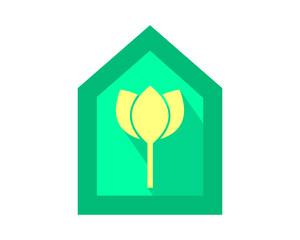 lotus home house plant flower flora stem nature image vector icon
