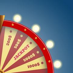 Part Red Wheel of fortune design Illustration eps 10