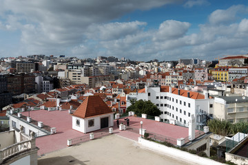 Lisbon city roofs, Portugal.