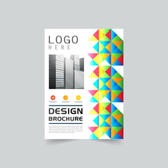 Brochure template vector, layout, background, cover
