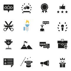 Vector set of icons related to customer relationship management, feedback, review and assessment - part 2