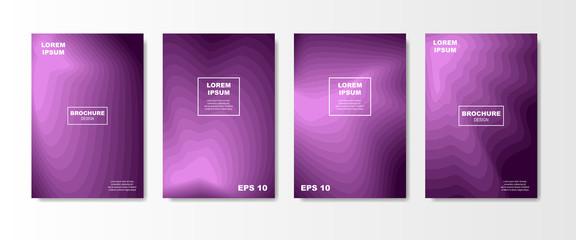 Minimal Liquid cover design set. Future Poster templates with Fluid gradient shape with transparent blend. Geometric halftone colorful gradient texture. vector illustration
