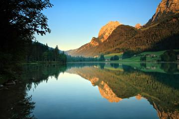 Morgenstimmung am Hintersee bei Berchtesgaden, Bayern, Deutschland