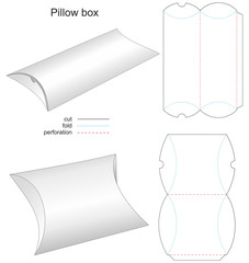 stamp box pillow