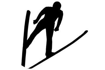 Ski jumping - vector