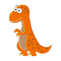 Cute cartoon T-rex. Vector illustration of dinosaur isolated