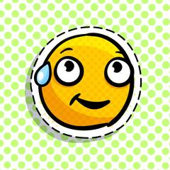 Shy yellow emoji