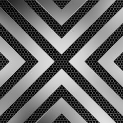 Metal background. 3D rendering.