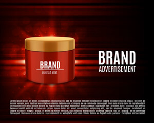 Cosmetic ads template