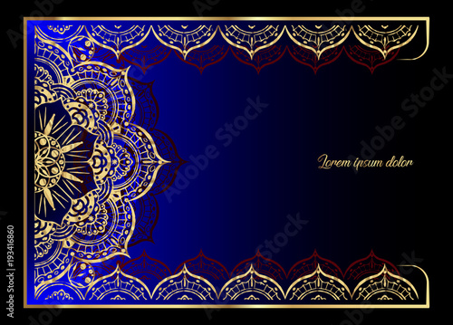 Golden vintage greeting card on a black background luxury ornament golden vintage greeting card on a black background luxury ornament template great for invitation m4hsunfo