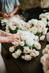 Flowers arranging