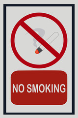No smoking on white isolated background