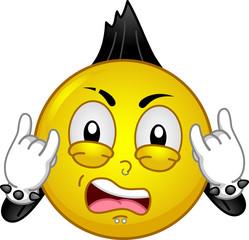 Mascot Smiley Rock Star Illustration