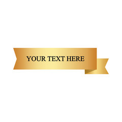 Beautiful colored ribbon. Realistic Ribbon with inscription:your text here