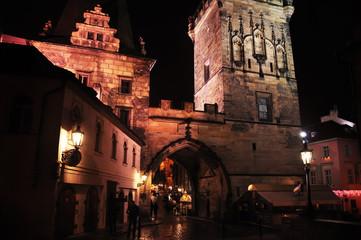 Fotobehang - Night view of old Prague.